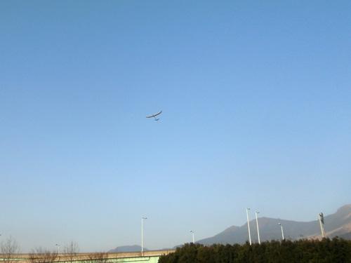 W740バルサ機飛んでまーす。