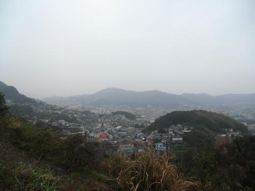 雨の長崎です。
