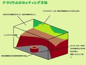 テラリウムのセッティング方法