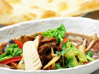 シカ肉と春野菜のカレー 2015春