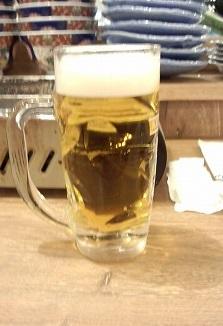 生ビール300円磯丸水産昼価格