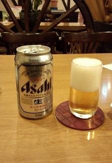 ビール570円うまやど