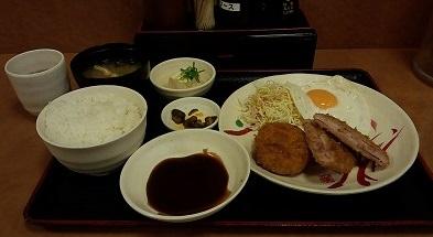 ハムカツ定食520円(税込)宮本むなし