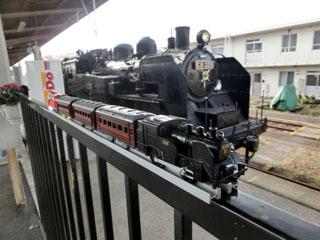 C11が牽引するSLもおか号のコラボ写真(下館駅)