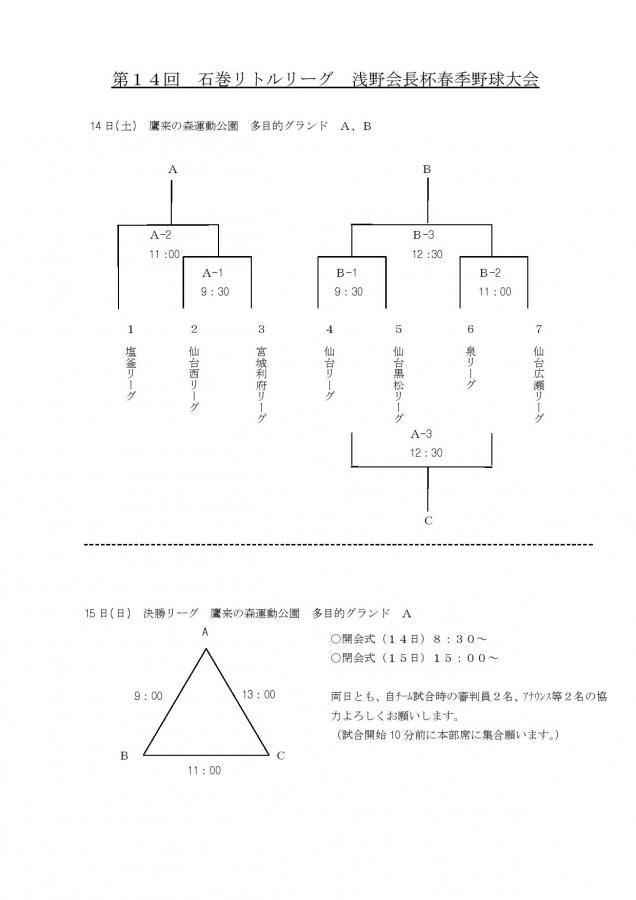 第14回石巻リトルリーグ浅野会長杯組合せ②0001