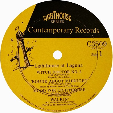 Contemporary Records Label Lighthouse Series