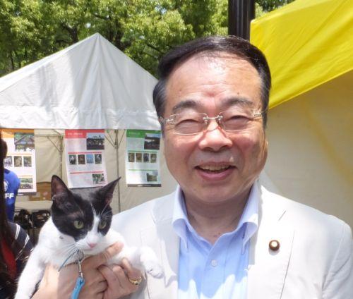 500環境大臣望月先生と猫ジャンヌ