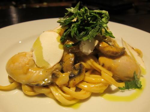 牡蠣の生パスタ