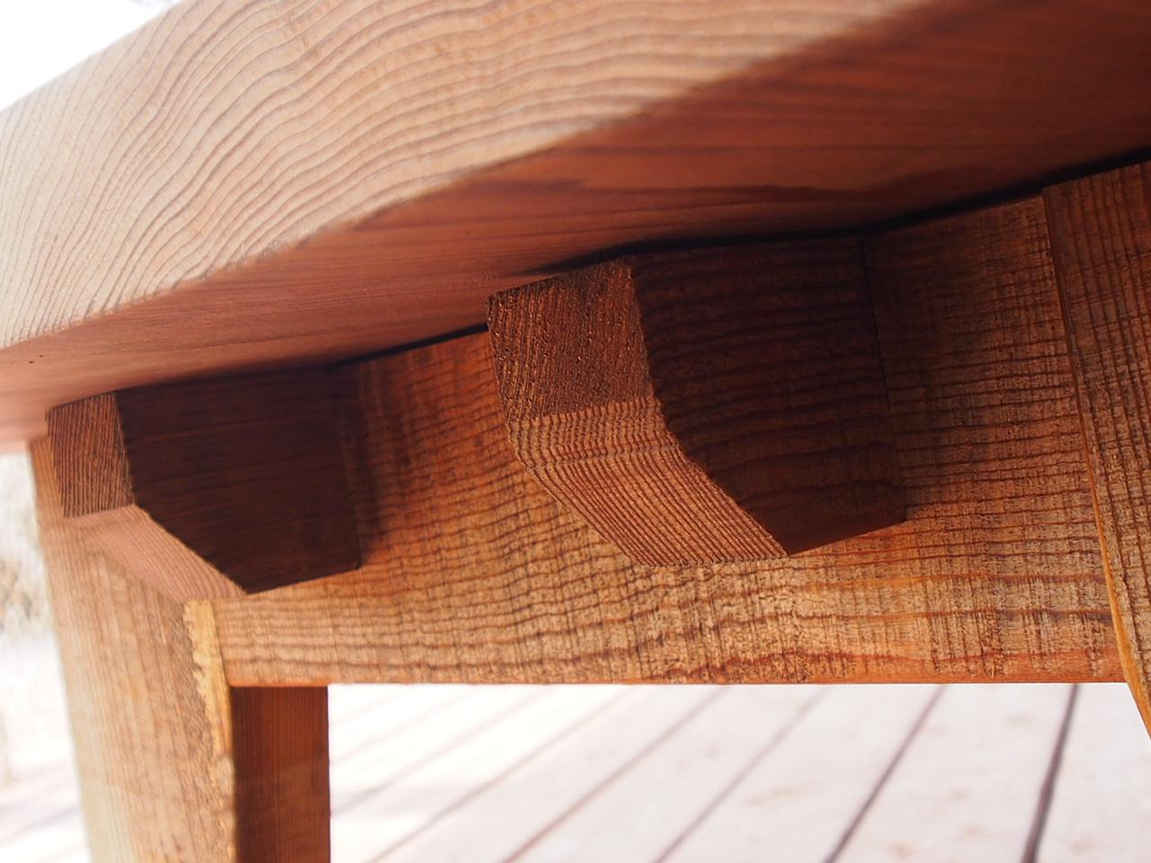 【那須高原 じざい工房 小林康文の素材を活かす家具づくり 古材風仕上げ座卓】
