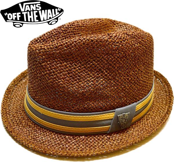 バンズVans USA企画ストローハット帽子画像@古着屋カチカチ01