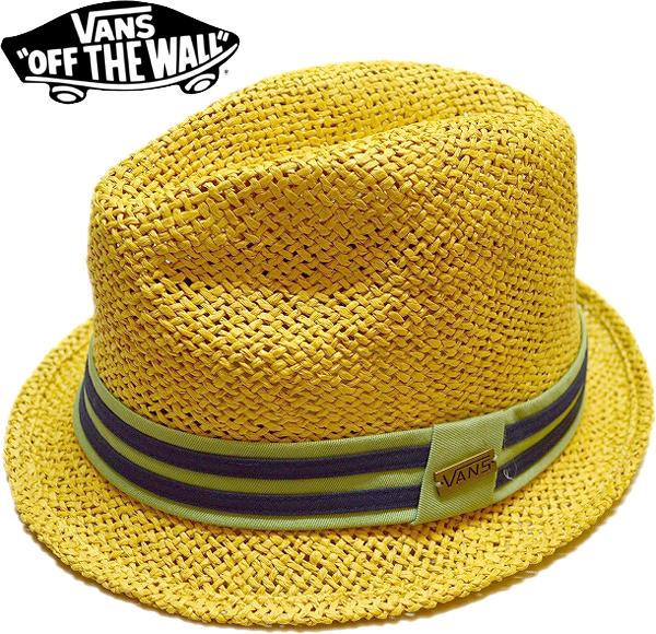 バンズVans USA企画ストローハット帽子画像@古着屋カチカチ02