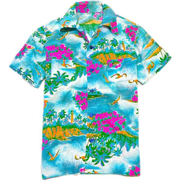 USEDアロハシャツ画像ハワイアンシャツ@古着屋カチカチ06