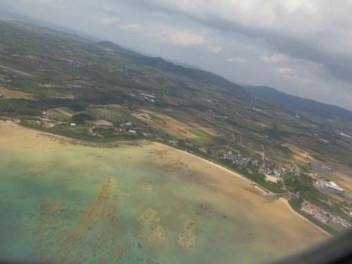 石垣島に着陸