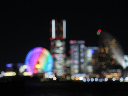 横浜の夜景 近眼の世界