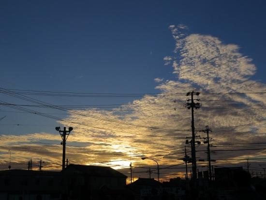 磐田の夕焼け空