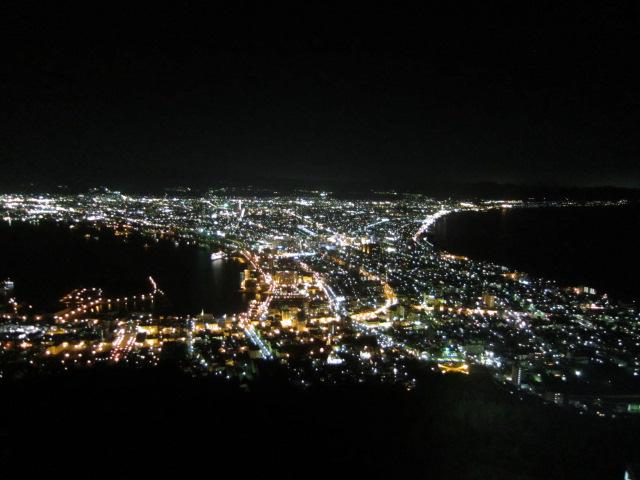 去年の函館の夜景