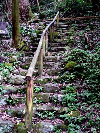 奥院礼堂への山道