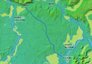 石上の渡しから旧東海道・車田への抜け道