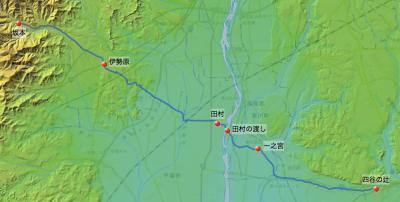 田村通り大山道→大山坂本