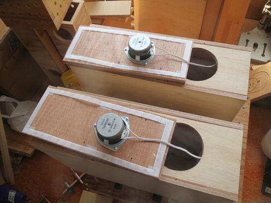 200円ユニット使用バックロードバスレフ再設計 4