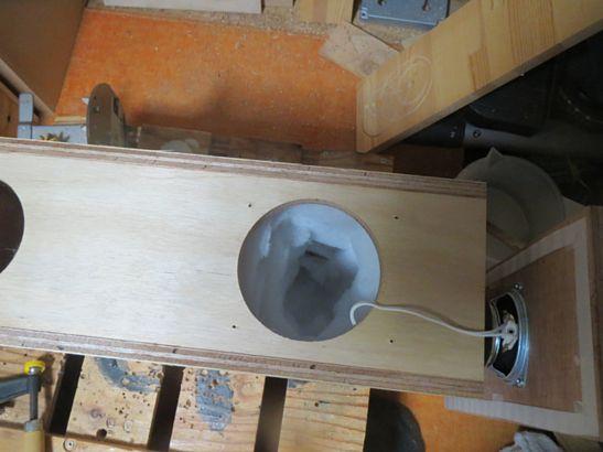 200円ユニット使用バックロードバスレフ再設計 5 調整