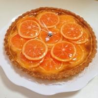 オレンジタルト時計画像