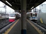 東武赤城駅 200系と8000系