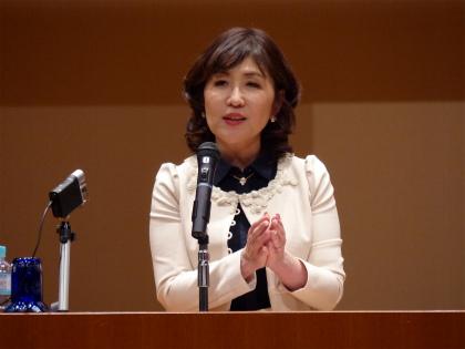 稲田朋美氏の講演