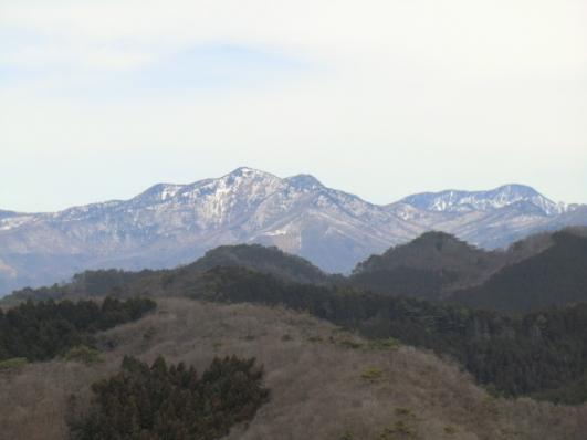 袈裟丸山と皇海山