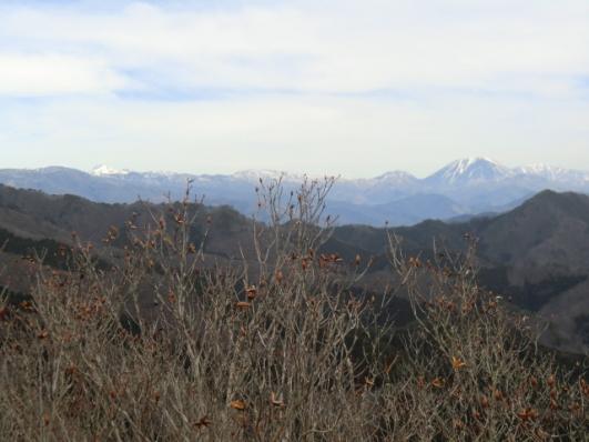 男体山から日光白根山