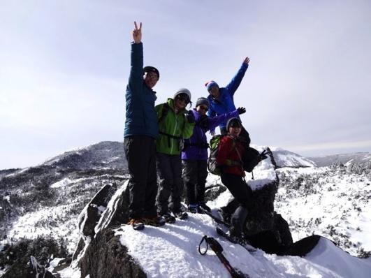 三ッ岳Ⅲ峰で今日のメンバー