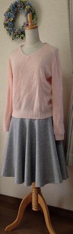 ウール薄グレースカート3