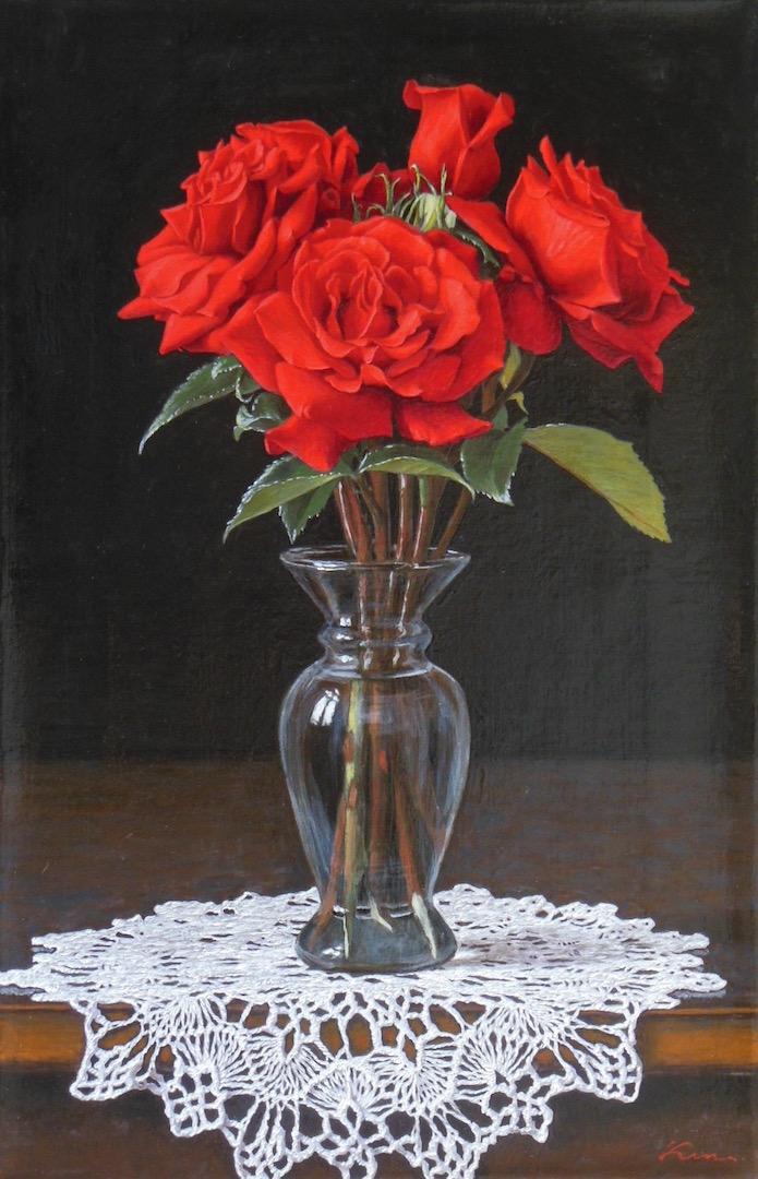 P6号「真紅の薔薇」