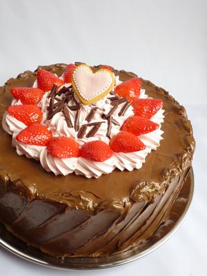 大きめチョコレートケーキ