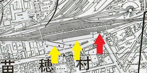古い現況図 苗穂駅