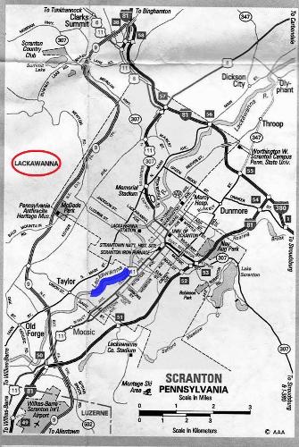 SCRANTON 地図