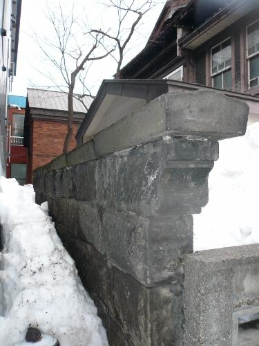 札幌音楽院 軟石塀、煉瓦造蔵