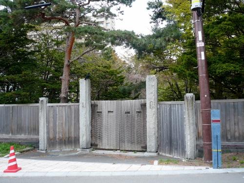 中根邸跡 門塀