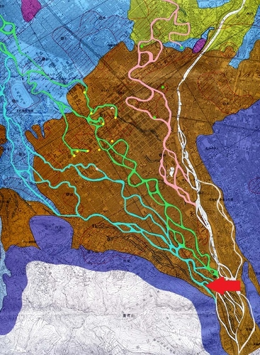豊平川 流路変遷図