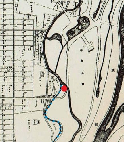 鴨々川 支流 古地図 201505