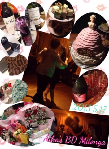 2015.5.17Aiko's BD Milonga in Tango Cafe Ace