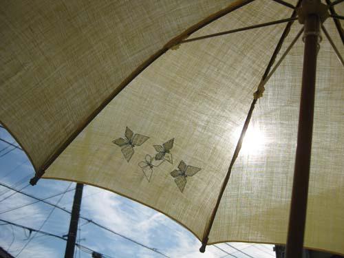 ペタコの日傘 てふてふ