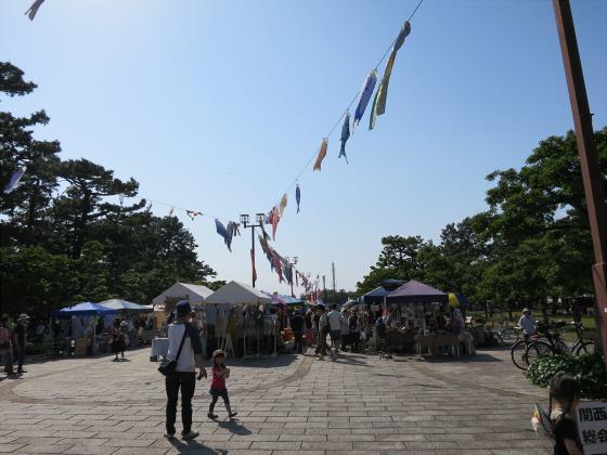 浜寺公園のフリマやバラ園03