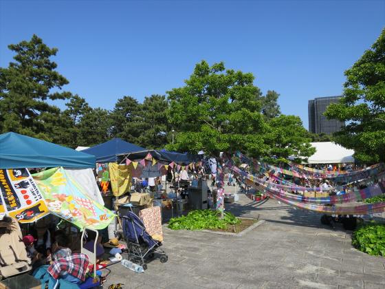 浜寺公園のフリマやバラ園13