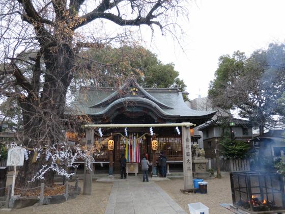 白山神社に初詣2015-01