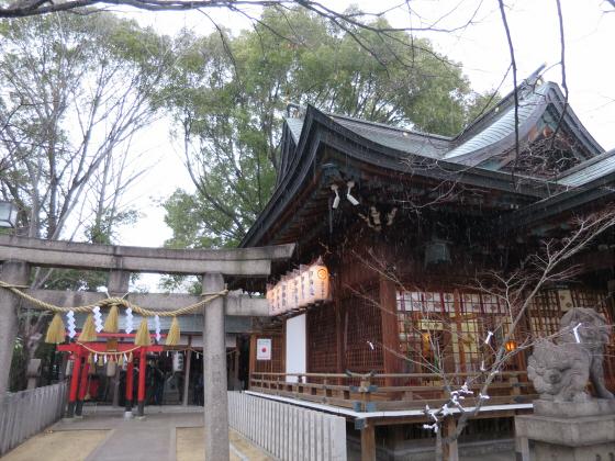 白山神社に初詣2015-03