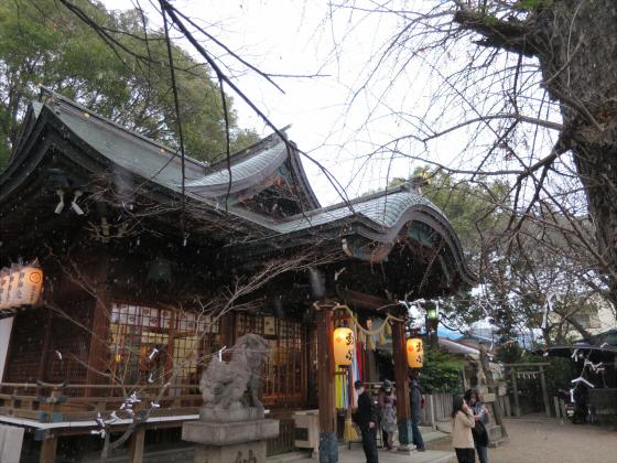 白山神社に初詣2015-04
