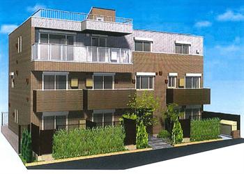 大井5丁目中出邸新築マンション完成予想図1_R