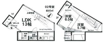 大井3丁目新築デザイナーズ間取り図_R