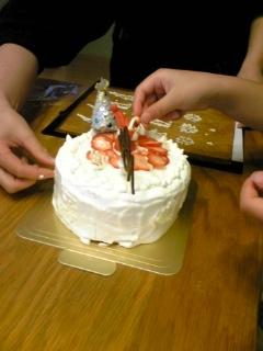 22日ケーキ